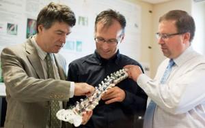Hubert Labelle en compagnie de Carl-Éric Aubin et Alain Moreau