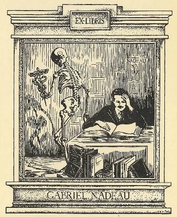 Ex-libris du Dr Gabriel Nadeau
